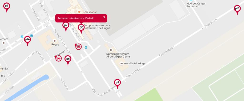 parkeren Rotterdam The Hague Airport